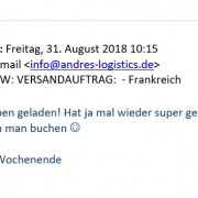 logistic hanau feedback